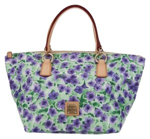 Dooney & Bourke Floral Spring Satchel in purple