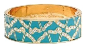 Kate Spade KATE SPADE GARDEN GROVE CRYSTAL HINGE BANGLE BRACELET BAG TURQUOISE