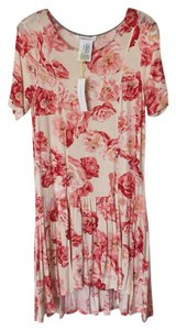BCBGeneration short dress Pink, ivory, red Floral on Tradesy