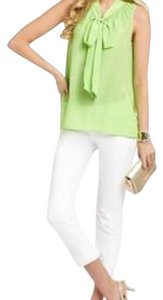 Lilly Pulitzer Top Green silk