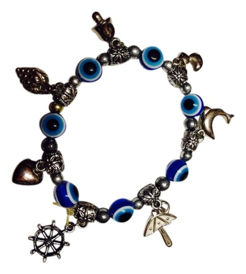 Preload https://item3.tradesy.com/images/blue-white-silver-evil-eye-bracelet-with-charms-1753512-0-0.jpg?width=440&height=440