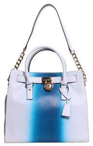 Michael Kors Satchel in White and Blue