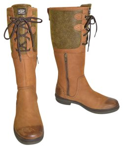 UGG Australia Otk Riding Shearling Fur CHESTNUT Boots