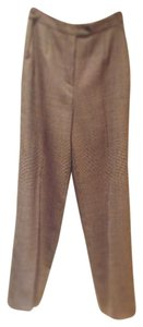 Armani Collezioni Trouser Pants Brown, carmel & ivory tweed