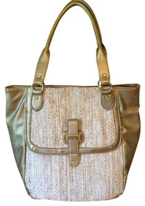 Nicole Miller Tote in Straw & Gold