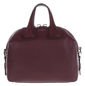 Givenchy Leather Nightingale Satchel in Oxblood