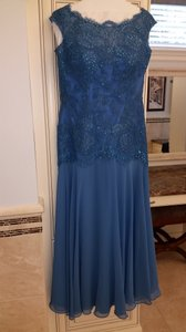 Montage By Mon Cheri Wedgewood Blue 114906 Dress