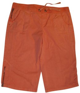 Blue Earth Skimmer Stretch Bermuda Capris coral