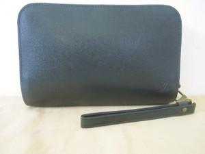 Louis Vuitton Taiga Epicea Baikal Green Clutch