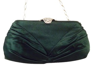 Judith Leiber Forest Evening Limited Edition Silver Chain Green Clutch