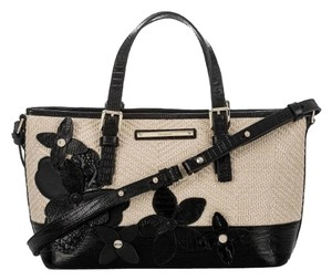 Brahmin Shoulder Satchel in Black Miramonte