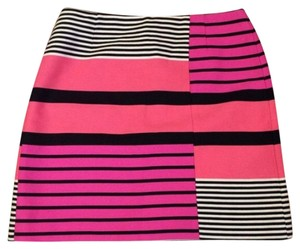 Ann Taylor LOFT Mini Skirt Pink, black, white