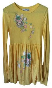 Wildfox short dress Canary Yellow Mini A-line Longsleeve on Tradesy