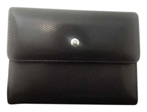 Montblanc Authentic Montblanc La Vie De Boheme Black White Leather Wallet