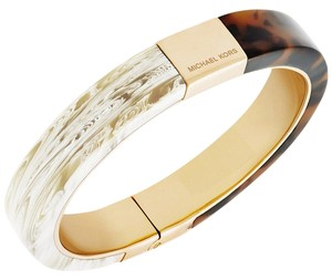 Michael Kors Michael Kors Colorblocked Hinged Bangle Bracelet: MSRP $115