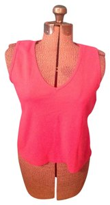 New York & Company Cotton Spandex Top Pink