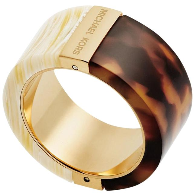 Item - Gold Brown Cream Blocked Msrp Ring