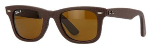 Ray-Ban RAY-BAN RB2140QM-1153N6 WAYFARER LEATHER Brown Size 50mm Sunglasses