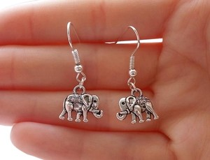 elephant earrings silver earrings elephant jewellery simple earrings fashion earrings handmade jewellery dangle earrings gift for women