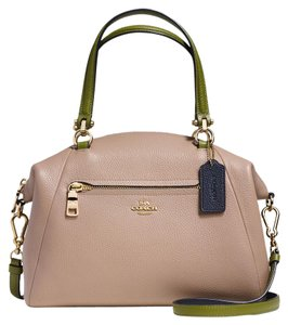 Coach Prairie Leather Satchel in Light Gold Colorblock