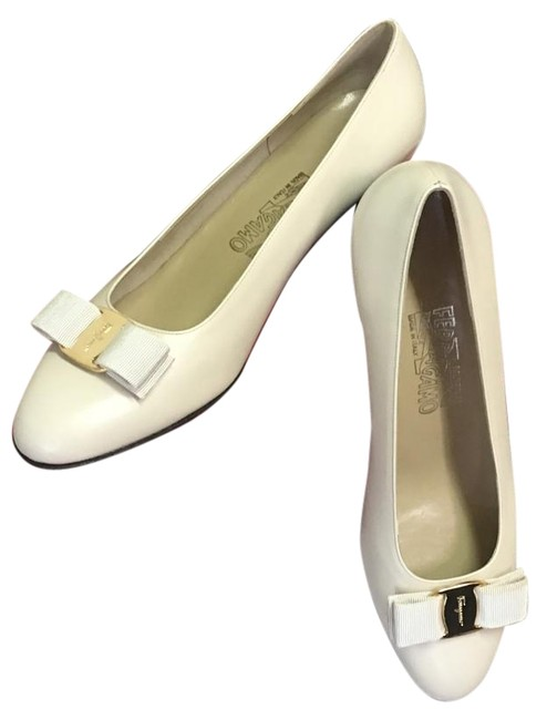 Item - New Bone Calf Vara 0138872 Pumps Size US 9 Wide (C, D)