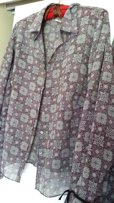 IB Diffusion DIFFUSION 100% SILK GRAY WOMEN 3 PIECE SET SKIRT TOP CAMI Long SLeeve JACKET PINK FLOWERS XL