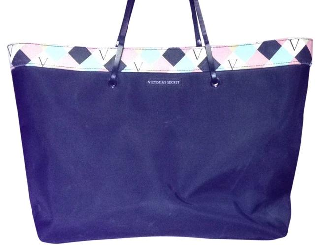 Item - Black/Blue/Pink Nylon Tote
