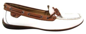 Sperry Top Sider Loafer Slip On White Flats