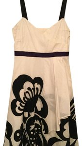 Anthropologie short dress Black, white and purple on Tradesy