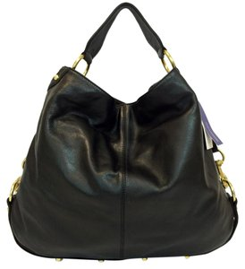 Rebecca Minkoff Pebbled Leather Black Nikki Ebony Hobo Bag