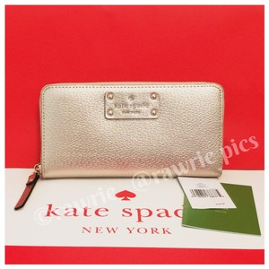 Kate Spade Neda Accordion Long Zip Around Leather Wallet