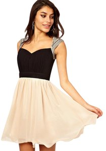 Little Mistress Fun Homecoming Prom Tan Evening Dress