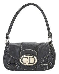 Dior Logo Pochette Leather Satchel in Black