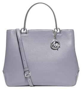 Michael Kors Satchel Leather Tote in Lilac