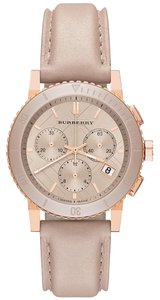 Burberry Burberry Chronograph Rose Dial Rose Gold-Tone Women's Watch BU9704.
