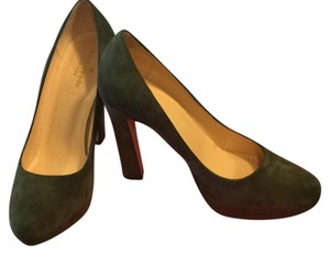 Kate Spade Dark green suede Platforms