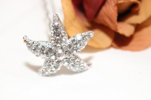 Bella Tiara Swarovski Crystal Wedding Starfish Hair Pin