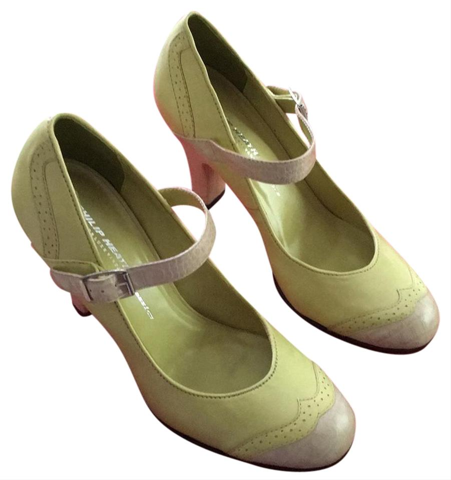 Pistache/Gelo (Yellow/Green Beige) This Style Was Called Ruby Pumps Pumps Pumps 49edb7