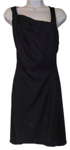 Helmut Lang short dress navy blue Zip Back on Tradesy