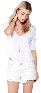 Free People Denim Cut Offs Cut Off Shorts White