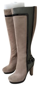 Charles David Multicolor Buckle Leather taupe/black/olive Boots