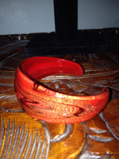 19th Ave. Red Glass Cuff Bracelet Image 2