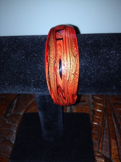 19th Ave. Red Glass Cuff Bracelet Image 3
