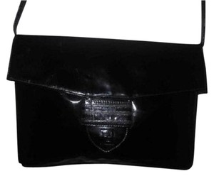 Fendi Two-way Style Clutch Or Removable Strap Patent Leather Dressy Or Casual Shoulder Bag