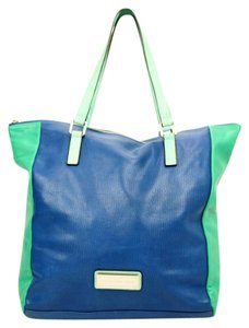 Marc Jacobs Leather Tote in Blue & Green