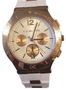 Michael Kors New, Never Worn Michael Kors White and Rose-Gold Watch