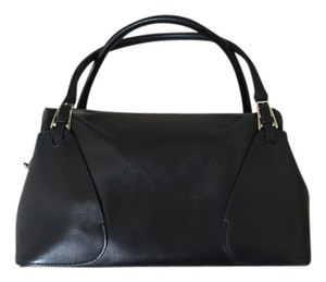 Bally Leather Monogram Simple Satchel in black