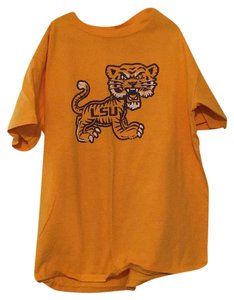 Gildan T Shirt Gold and Purple