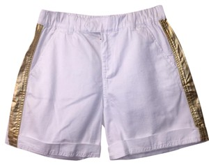 J.Crew Bermuda Shorts White/gold