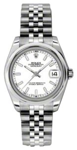 Rolex Rolex New Style Pre Owned Datejust Steel White Stick Dial 31mm.